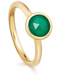 Astley Clarke - Stilla Green Onyx Round Ring - Lyst