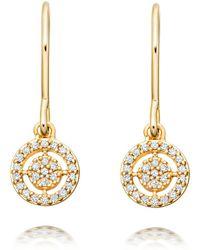 Astley Clarke Mini Icon Aura Drop Earrings - Gray