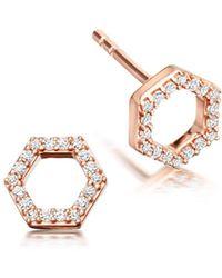 Astley Clarke - Honeycomb Stud Earrings - Lyst