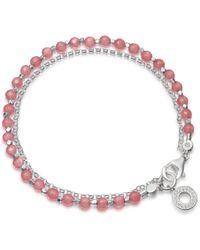 Astley Clarke - Rose Quartzite Mini Halo Biography Bracelet - Lyst