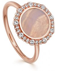 Astley Clarke - Rose Gold Luna Lace Agate Sapphire Ring - Lyst