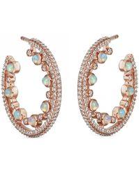 Astley Clarke Large Icon Nova Opal Hoop Earrings - Multicolor