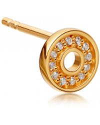 Astley Clarke - Single Mini Open Halo Biography Stud Earring - Lyst