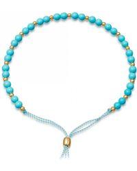 Astley Clarke Turquoise Beaded Skinny Kula Bracelet - Blue