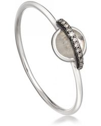 Astley Clarke - Rainbow Moonstone Mini Saturn Ring - Lyst