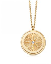 Astley Clarke Celestial Compass Locket Necklace - Multicolour