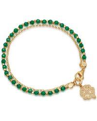 Astley Clarke - Green Onyx Four Leaf Clover Biography Bracelet - Lyst