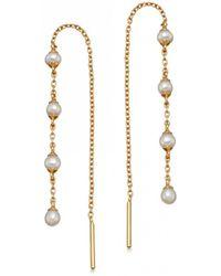 Astley Clarke - Stilla Pearl Chain Earrings - Lyst