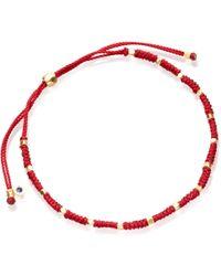 Astley Clarke Protection Skinny Biography Bracelet - Red