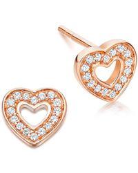 Astley Clarke - Mini Heart Biography Stud Earrings - Lyst