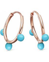 Astley Clarke - Hazel Turquoise Hoop Earrings - Lyst