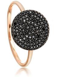 Astley Clarke Icon Black Diamond Ring - Multicolour