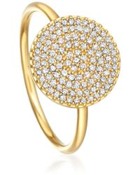 Astley Clarke Little Heart Gold Diamond Ring - Metallic