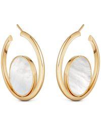 Astley Clarke - Stilla Slice Mother Of Pearl Hoop Earrings - Lyst
