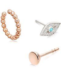 Astley Clarke - Mini Icon Aura Drop Earrings - Lyst