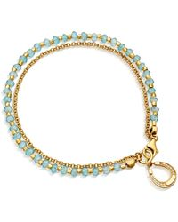 Astley Clarke Apatite Horseshoe Biography Bracelet - Blue
