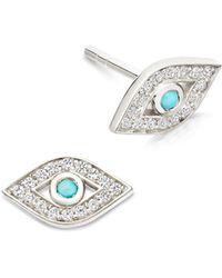 Astley Clarke - Mini Evil Eye Biography Stud Earrings - Lyst