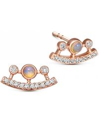 Astley Clarke - Icon Nova Ellipse Opal Stud Earrings - Lyst