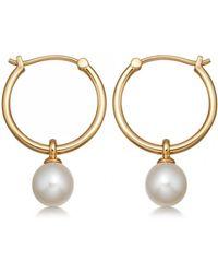 Astley Clarke Vera Pearl Drop Hoop Earrings - Multicolour