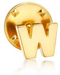 Astley Clarke - Initial 'w' Biography Pin - Lyst