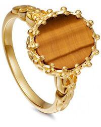 Astley Clarke - Tigers Eye Large Floris Ring - Lyst