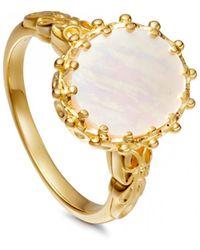Astley Clarke Mother Of Pearl Large Floris Ring - Metallic