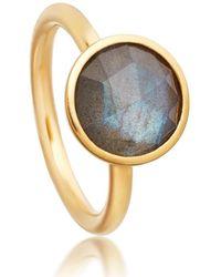 Astley Clarke Round Labradorite Stilla Ring - Multicolor
