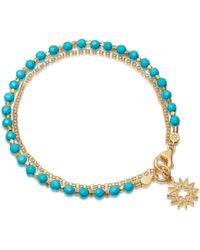 Astley Clarke Turquoise Sun Biography Bracelet - Blue