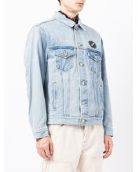 we11done Oversized Denim Jacket - Blue