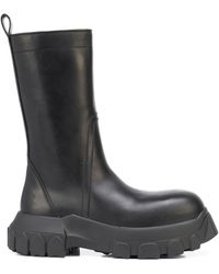 Rick Owens Zip-up Leather Boots - Black