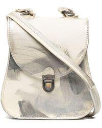 Cherevichkiotvichki Mini Curved Bag With Strap 110cm In Sanded Camel - Natural