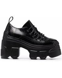 Simone Rocha Track Sole Brogue Shoes - Black