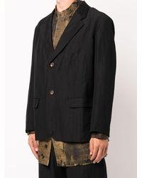 Ziggy Chen Cropped Single Breasted Blazer - Black