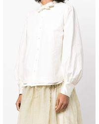Renli Su Slim Fit Bow Detailed Cotton Shirt - White