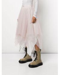 Marc Le Bihan Bicolor 6 Layer Skirt - Pink