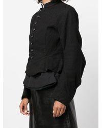 Renli Su Button Up Short Jacket - Black