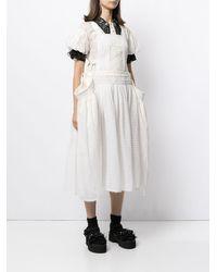 Renli Su Apron Dress - White