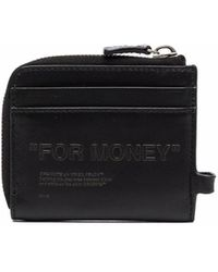 Off-White c/o Virgil Abloh Edebossed Quote Chain Wallet - Black