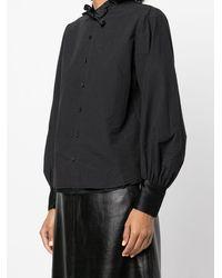 Renli Su Bow-detail Ruffled Shirt - Black