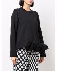 Comme des Garçons Ruffle-trim Long-sleeve Sweatshirt - Black