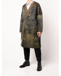 Ziggy Chen Reversible Robe Coat - Multicolor