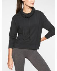b4a233922eb15 Lyst - Athleta Modern Sweatshirt in Black