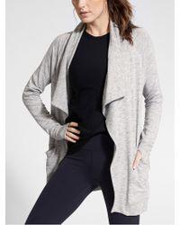 0ffa993e3e3dd Lyst - Athleta Maven Poncho Sweater