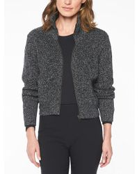 73f116aecc77a Lyst - Athleta Thermal Honeycomb Sweater in Black