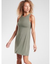 Athleta Reversible Santorini High Neck Dress - Green