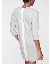 7c45b5727a860 Athleta - Cozy Karma Back Zip Sweatshirt Dress - Lyst