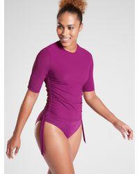Athleta Shirred Rashguard - Purple