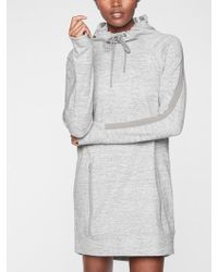 297e24cf679 Lyst - Athleta Eco Wash Turtleneck Sweatshirt Dress in Gray
