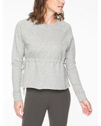 Athleta - Studio Cinch Sweatshirt - Lyst