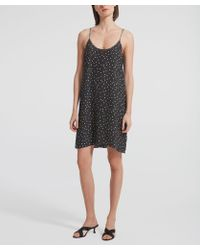 ATM Polka-dot Silk Cami Dress - Black